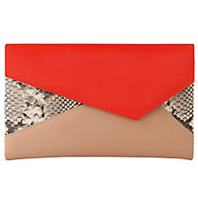 Buy L.K. Bennett Lola Envelope Clutch Bag, Orange Online at johnlewis.com