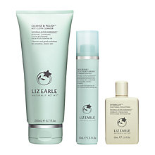 Buy Liz Earle Cleanse & Polish™ Hot Cloth Cleanser and Skin Repair Moisturiser™ Oily with Gift Online at johnlewis.com