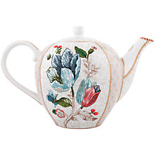 Buy PiP Studio Spring To Life Teapot, Cream Online at johnlewis.com