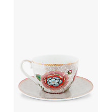 Buy PiP Studio Spring to Life Cup and Saucer, Cream Online at johnlewis.com
