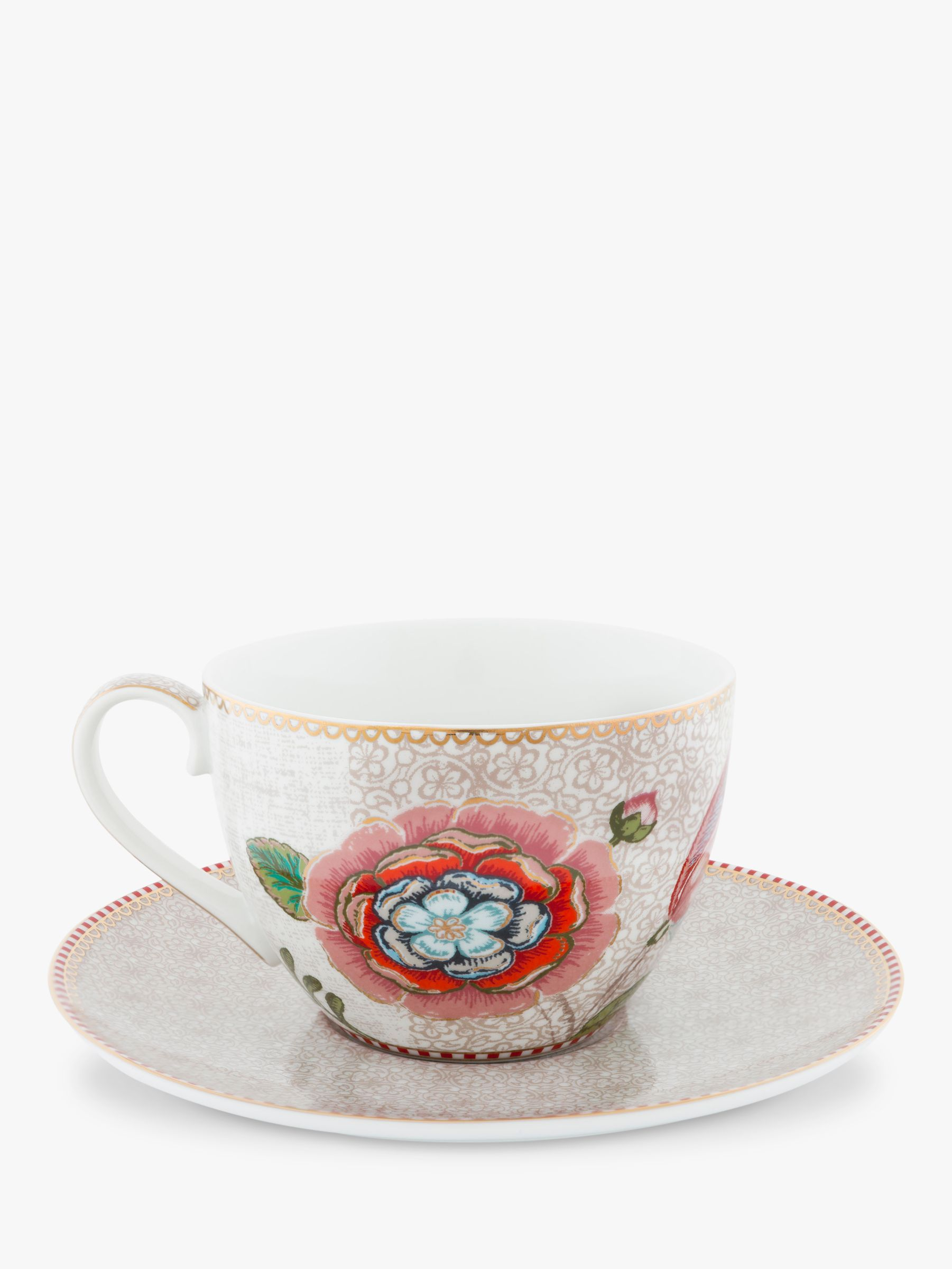 PiP Studio PiP Studio Spring to Life Cup and Saucer, Cream
