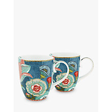 Buy PiP Studio Spring To Life Large Mug, Set of 2, Blue Online at johnlewis.com