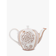 Buy PiP Studio Spring to Life Small Teapot, Cream Online at johnlewis.com