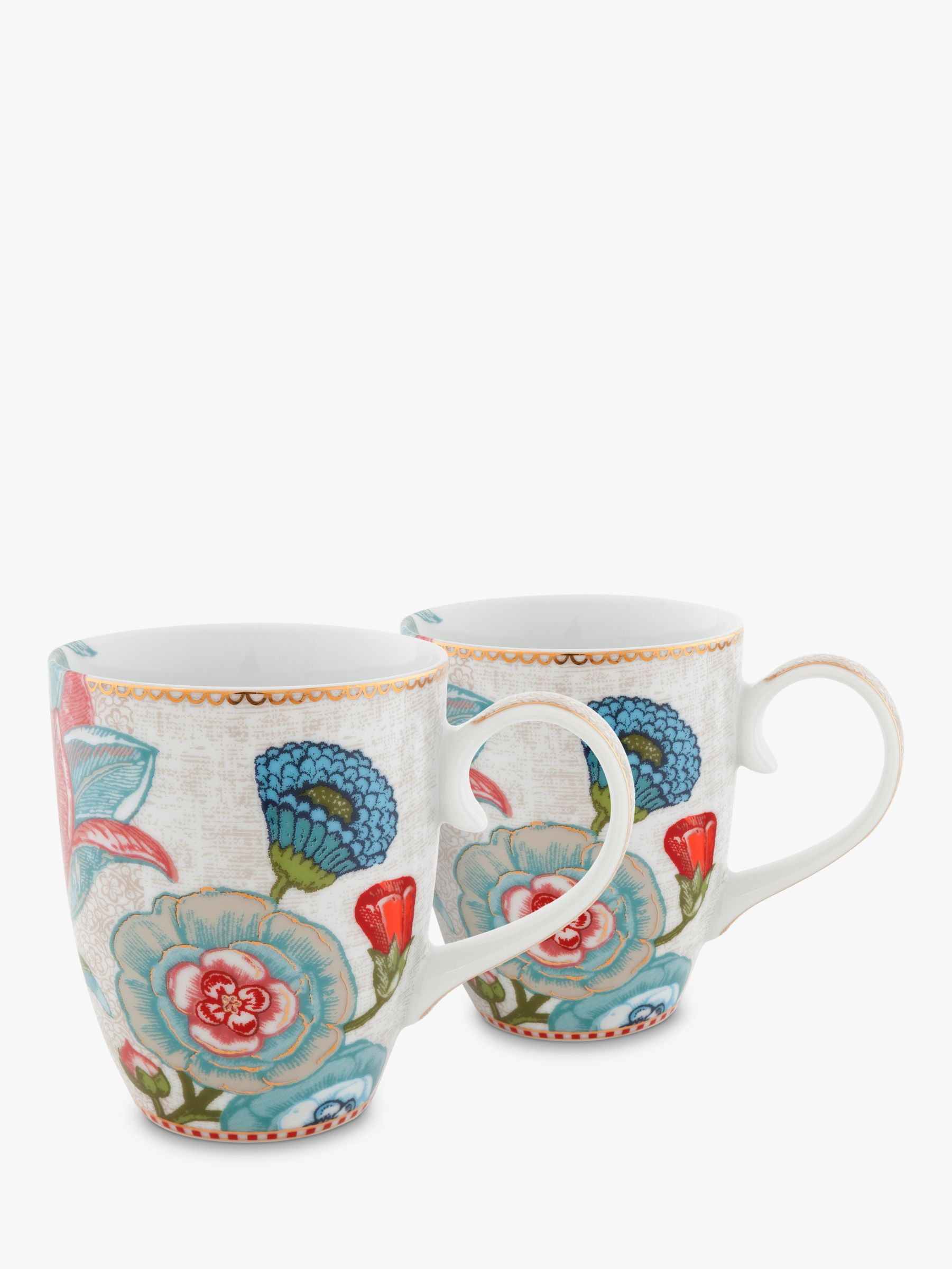 PiP Studio PiP Studio Spring to Life Large Mug, Set of 2, Cream