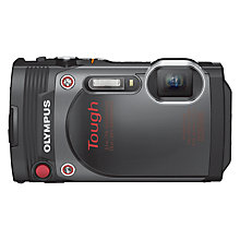 "Buy Olympus Tough TG-870 Waterproof Action Camera, HD 1080p, 16MP, 5x Optical Zoom, Wi-Fi With 3"" Flip Monitor, Black Online at johnlewis.com"
