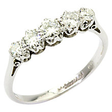 Buy Turner & Leveridge 1950s 18ct White Gold 5 Diamond Ring, White Gold Online at johnlewis.com