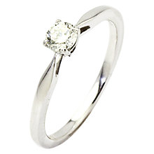 Buy Turner & Leveridge 2000s 18ct White Gold Solitaire Diamond Engagement Ring, White Gold Online at johnlewis.com