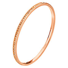 Buy Folli Follie Match & Dazzle Crystal Bangle, Rose Gold Online at johnlewis.com