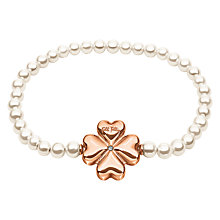 Buy Folli Follie Grace Coated Shell Bracelet, Rose Gold/White Online at johnlewis.com