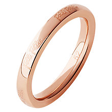 Buy Folli Follie Match & Dazzle 2 Plain Ring, Rose Gold Online at johnlewis.com