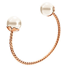 Buy Folli Follie Grace Coated Shell Bangle, Rose Gold/White Online at johnlewis.com