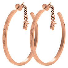Buy Folli Follie Match & Dazzle Medium Hoop Earrings, Rose Gold Online at johnlewis.com