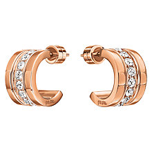Buy Folli Follie Touch Mini Hoop Earrings, Rose Gold Online at johnlewis.com