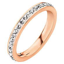 Buy Folli Follie Match & Dazzle 2 Crystal Ring, Rose Gold Online at johnlewis.com
