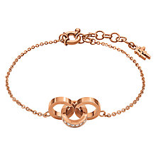 Buy Folli Follie Touch Crystal Link Bracelet, Rose Gold Online at johnlewis.com