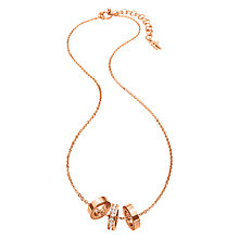 Buy Folli Follie Touch Crystal Pendant Necklace, Rose Gold Online at johnlewis.com