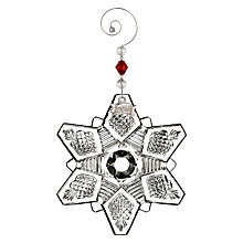 Buy Waterford Annual Snow Crystal Christmas Decoration Online at johnlewis.com