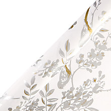 Buy John Lewis Bird Roll Wrap, White/Gold Online at johnlewis.com