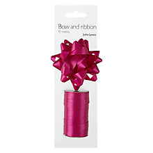 Buy John Lewis Gift Bow and Ribbon Set, Fuchsia Online at johnlewis.com