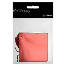 Buy John Lewis Red Foil Gift Tags, Pack of 10 Online at johnlewis.com