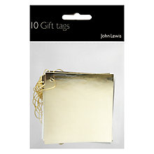 Buy John Lewis Gold Foil Gift Tags, Pack of 10 Online at johnlewis.com