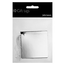 Buy John Lewis Silver Foil Gift Tags, Pack of 10 Online at johnlewis.com