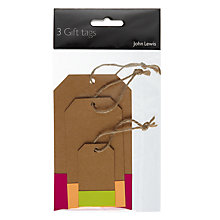 Buy John Lewis Neon Dipped Luggage Gift Tags, Pack of 3 Online at johnlewis.com