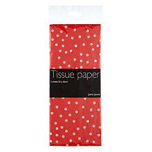 Buy John Lewis Polka Dot Tissue Paper, Red Online at johnlewis.com