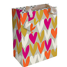 Buy Caroline Gardner Hearts Gift Bag, Medium Online at johnlewis.com