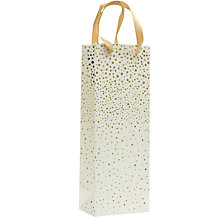 Buy John Lewis Flitter Spot Bottle Bag, Gold Online at johnlewis.com