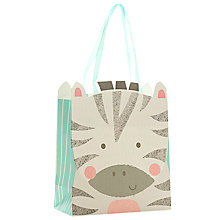 Buy John Lewis Zebra Gift Bag, Small Online at johnlewis.com