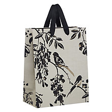 Buy John Lewis Bird Gift Bag, Black and Silver, Small Online at johnlewis.com
