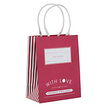 Buy John Lewis Candy Stripe Gift Bag, Small, Fuchsia Online at johnlewis.com