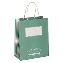 Buy John Lewis Candy Stripe Medium Gift Bag, Turquoise Online at johnlewis.com