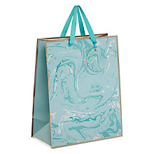Buy John Lewis Marble Pastel Gift Bag, Aqua Online at johnlewis.com