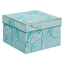 Buy John Lewis Marble Medium Gift Box, Aqua Online at johnlewis.com