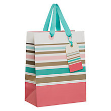 Buy John Lewis Pastel Stripe Gift Bag, Small Online at johnlewis.com