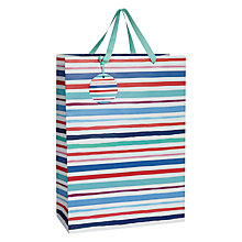 Buy John Lewis Watercolour Stripe Gift Bag, Large Online at johnlewis.com