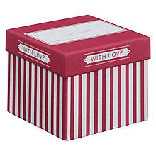 Buy John Lewis Candy Stripe Gift Box, Mini, Fuchsia Online at johnlewis.com