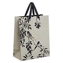Buy John Lewis Bird Gift Bag, Medium, Black And Gold Online at johnlewis.com