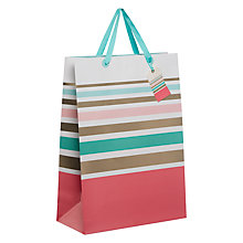 Buy John Lewis Pastel Stripe Gift Bag, Large Online at johnlewis.com