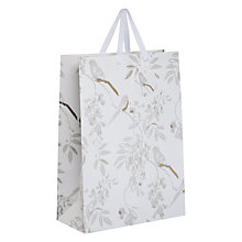 Buy John Lewis Silver Bird Gift Bag, Large, White Online at johnlewis.com