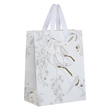 Buy John Lewis Bird Gift Bag, White and Silver, Small Online at johnlewis.com