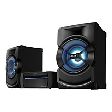 Buy Sony SHAKE-X1D High Power Home Audio Bluetooth Hi-Fi System, Black Online at johnlewis.com