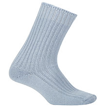 Buy John Lewis Pure Cashmere Bed Socks, Sky Blue Online at johnlewis.com