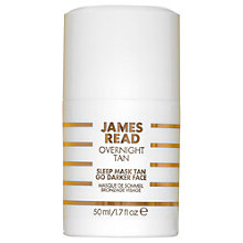 Buy James Read Tan Sleep Mask Go Darker Face, 50ml Online at johnlewis.com