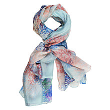 Buy Chesca Branch Print Silk Scarf, Blue/Multi Online at johnlewis.com