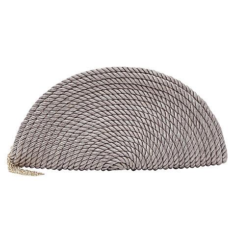 Buy Reiss Twist Semi Circular Bag, Natural Online at johnlewis.com