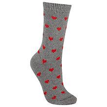 Buy John Lewis Cashmere Blend Heart Pattern Ankle Socks Online at johnlewis.com