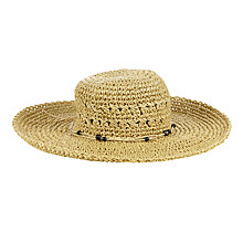 Buy Numph Kotono Straw Hat, Birch Online at johnlewis.com